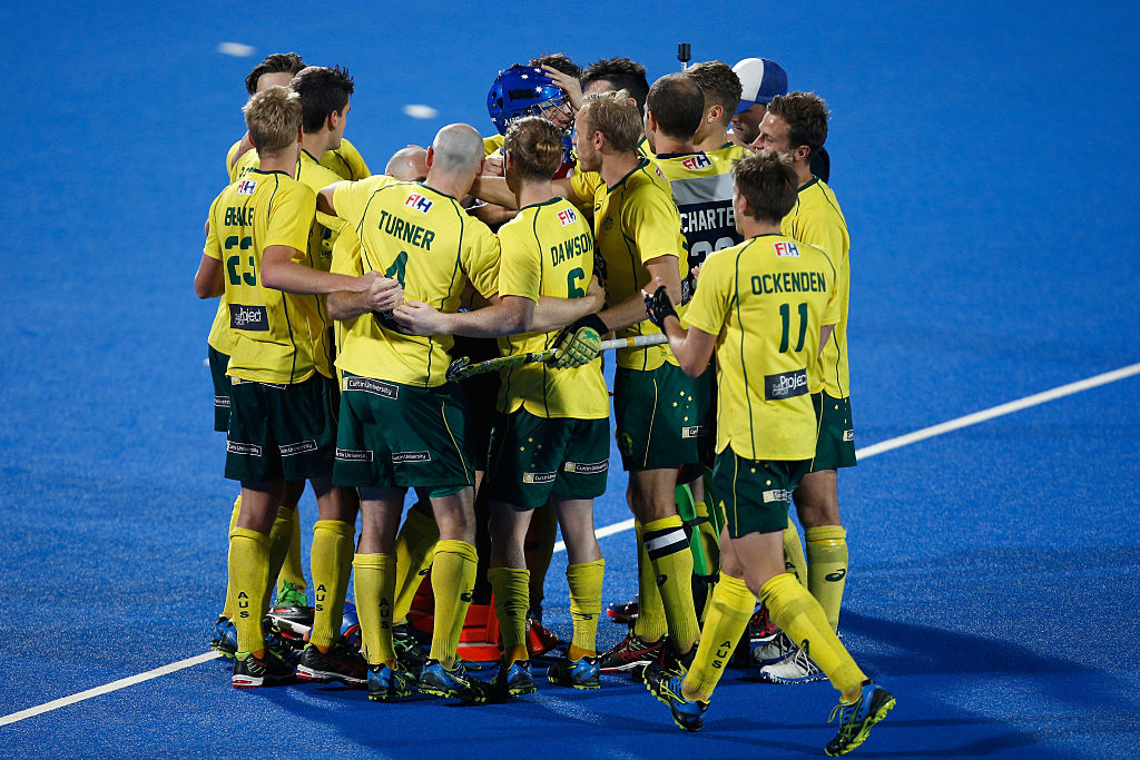 Australia celebrate winning the the FIH Men's Hero Hockey Champions Trophy 2016 final between Australia and India