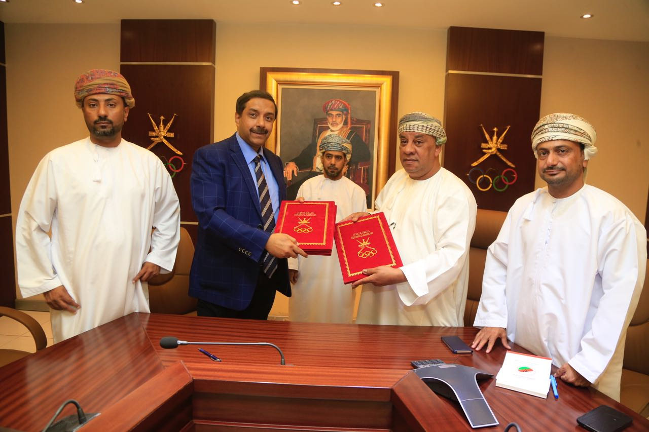 OHA Chief Talib Al Wahaibi, second from right, and AHF CEO 'Dato' Tayyab Ikram