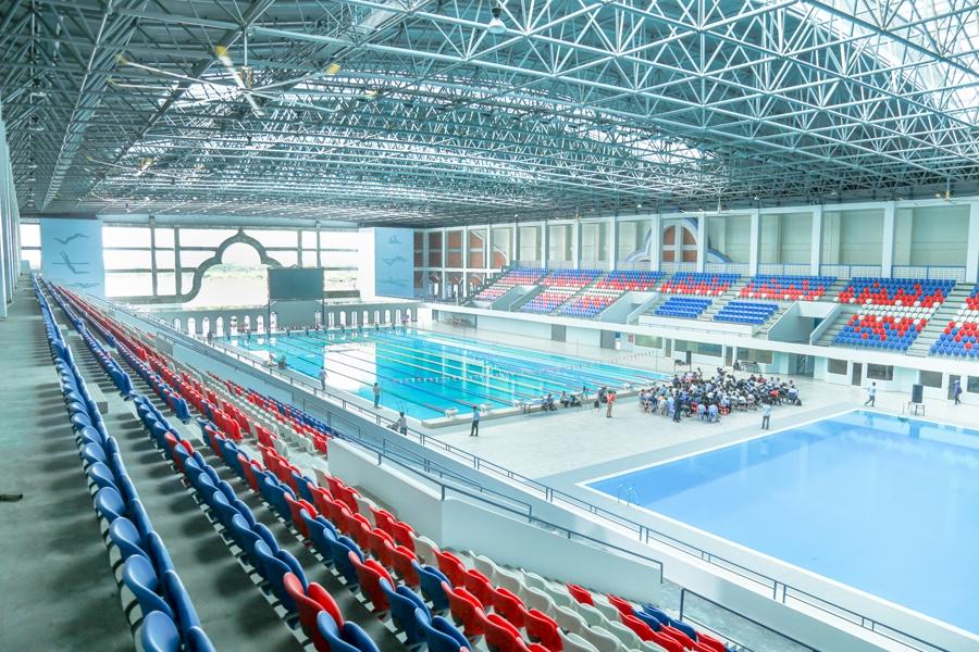 The newly-constructed Indoor Stadium and Aquatics Center in Phnom Penh.