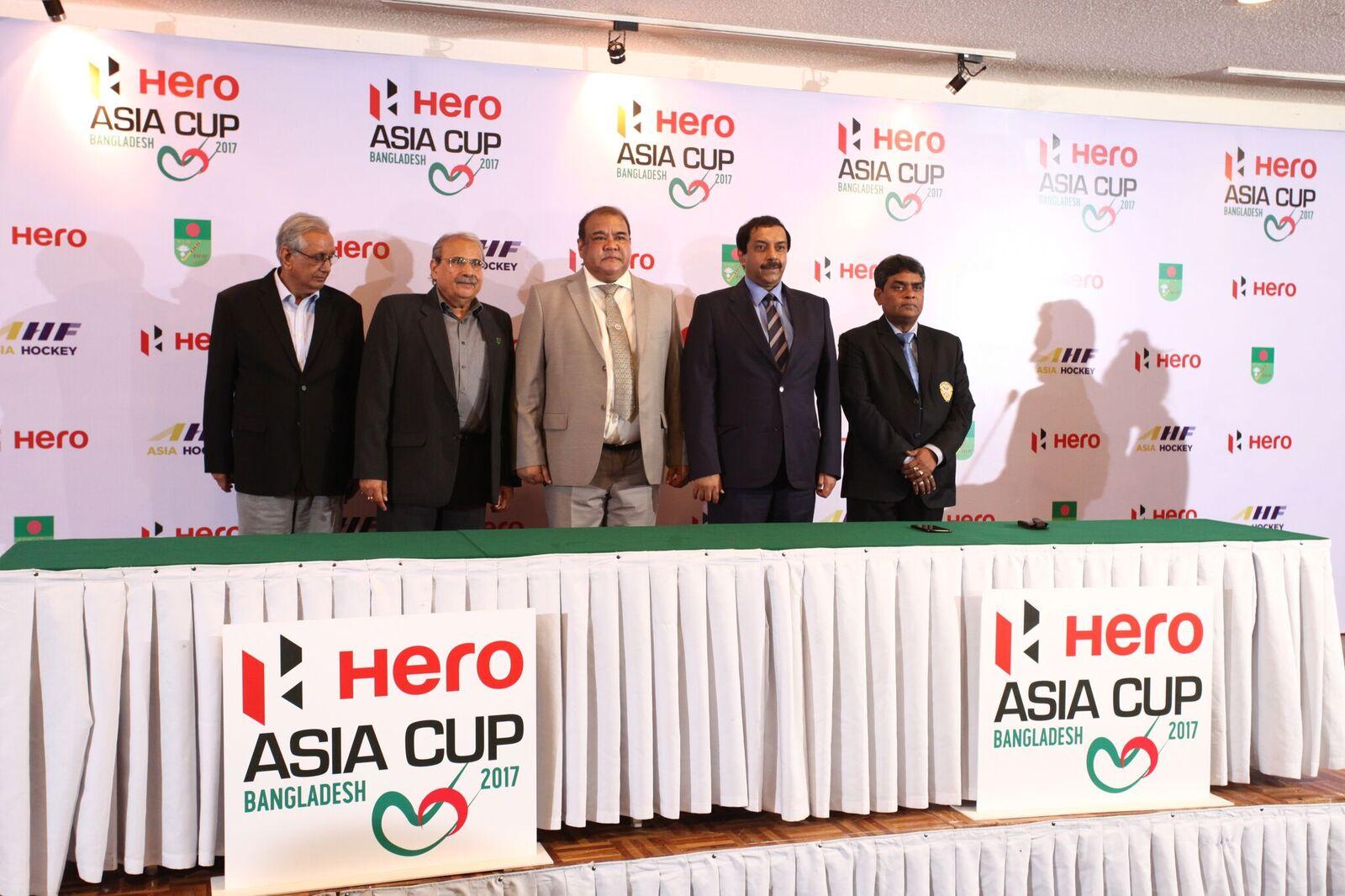 Abdus Sadeque, General Secretary of BHF, J Narain, Hero MotoCorp; Abu Esrar, President BHF, Tayyab Ikram, CEO, AHF, Abd  ur Rashid Shikdar, VP BHF